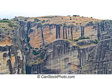 Meteora cliffs and monasteries