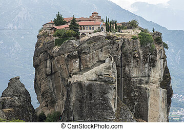 Meteora in Greece. Meteora is the monasteries on the top of ...