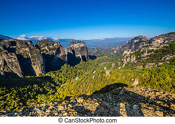 Meteora Landscape - Thessaly, Greece