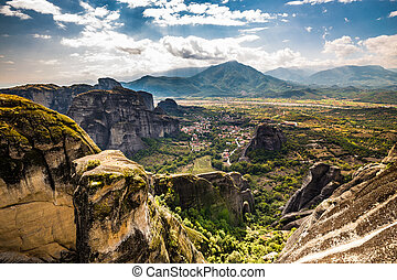 Meteora Landscape - Thessaly, Greece, Europe