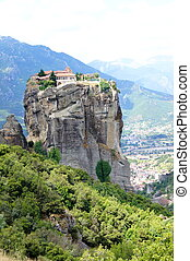 Meteora Monasteries - A landscape picture with the ...