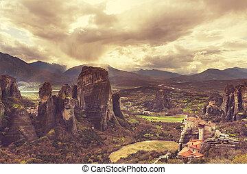 Meteora monasteries in Greece.