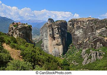 Meteora Monasteries on the rocks