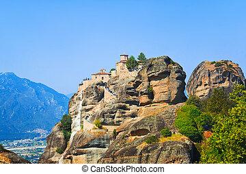 Meteora monastery in Greece - travel background