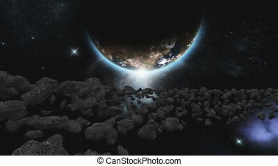 meteorite and earth