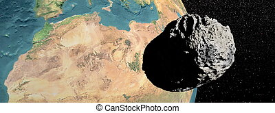 Meteorite going to earth - Big grey meteorite going to earth...