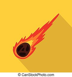 Meteorite icon. Flat illustration of meteorite vector icon for web