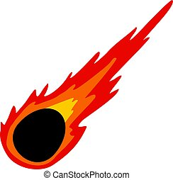 Meteorite icon isolated