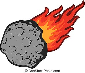 meteorite vector illustration