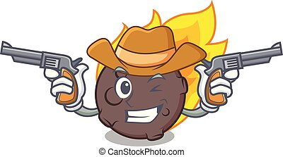 meteorito, estilo, personagem, caricatura, boiadeiro