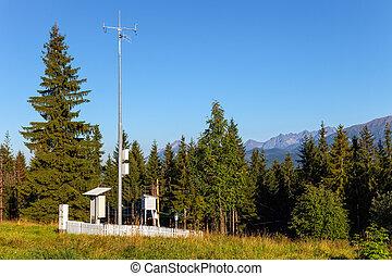 Weather installation of equipment to the Gubalowka Mountain.