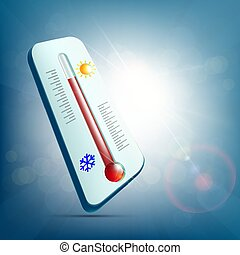 Meteorological thermometer for measuring temperature and...