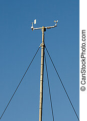 Wind speed meter devices in meteorological weather station.