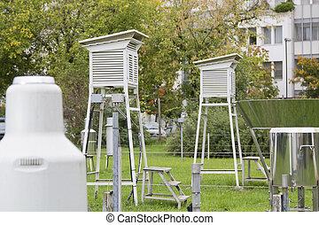 meteorologisk, utomhus, instrument
