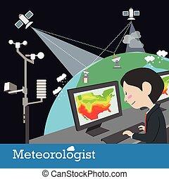 meteorologist, ocupação, vetorial