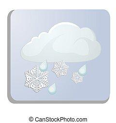 meteorology icon isolated on white