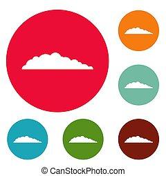 Meteorology icons circle set