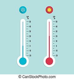 meteorology thermometer with Celsius, Fahrenheit - The...