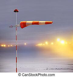 Meteorology windsock in airport - Meteorology windsock...