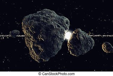 meteory, słońce