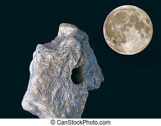 meteoryt, księżyc