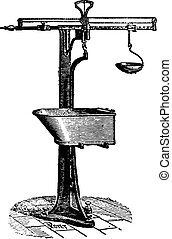 Meter-balance, vintage engraving.