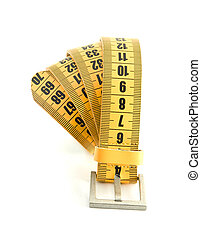 meter belt slimming isolated on a white background