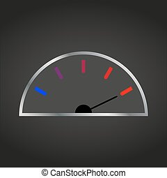 Meter download speed with an arrow on a black background