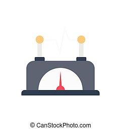 meter flat color icon