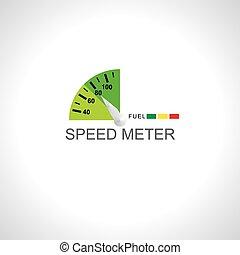 meter over white background