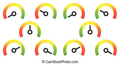 meter signs infographic gauge element vector illustration