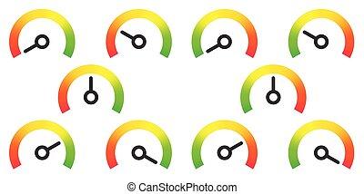 meter signs infographic gauge element vector illustration