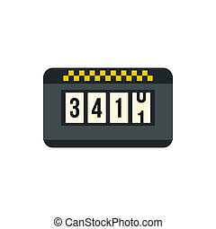 Meter taxi icon in flat style