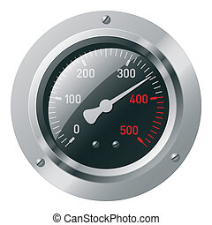 Vector illustration of a meter