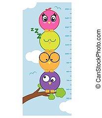 meter wall birds - Bumper children meter wall. Birds