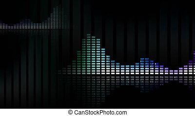 meters., loop-able, seamless, waveforms, muzyka, vu,...