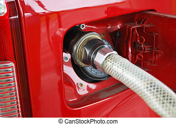 Methane car fueling - Ecologic methane red car fueling...