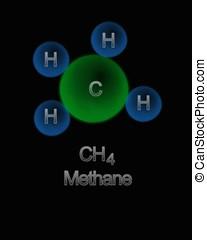 Methane. -  Methane molecule.