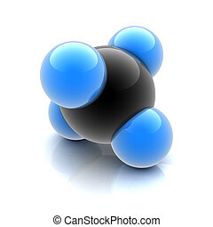 methane molecule  3d illustration