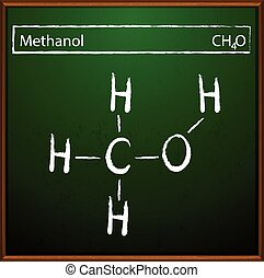Methanol formula - An image showing the methanol formula