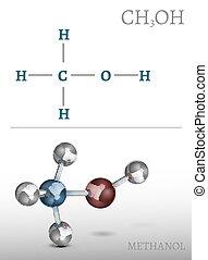 Methanol Molecule Image. Beautiful vector illustration in...