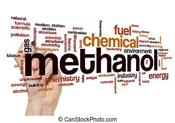 Methanol word cloud concept