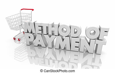 Method of Payment Shopping Cart Buy Online 3d Illustration