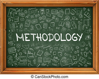 Methodology Concept. Green Chalkboard with Doodle Icons.