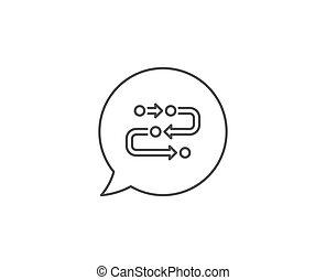 Methodology line icon. Development process sign. Vector