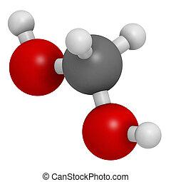 methylene, glycol, (methanediol, ホルムアルデヒド, monohydrate), molecul