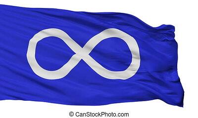 Metis Blue Indian Flag Isolated Seamless Loop - Metis Blue...