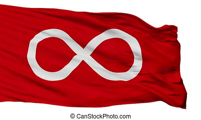 Metis Red Indian Flag Isolated Seamless Loop