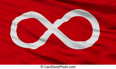 metis, seamless, drapeau, indien, closeup, rouges, boucle