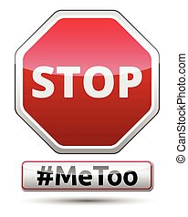 #MeToo - STOP traffic sign